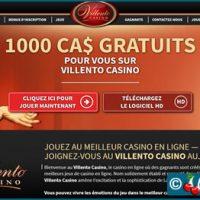 Villento, un casino Microgaming qui vous offre 1000 €/$/£/C$ de bonus.