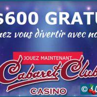 Cabaret Club, un casino en ligne doté de 540 jeux signé Microgaming.