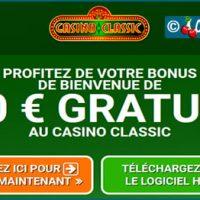 Casino Classic, bonus bien pensé et une flopée de machines à sous.