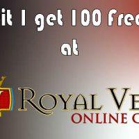 Deposit 1 get 100 Free Spins at Royal Vegas 600x300